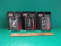 Star Wars Episode L Erasers Figurine 2.5in Tall Collection Of 3