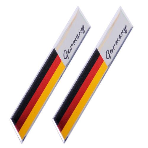 2pcs Germany Flag Sticker Emblem Badge Fender Trunk Decor Fit for VW Volkswagen