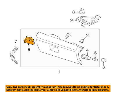 Genuine Honda Pilot Glove Compartment Box Lock Assembly OEM 09-15  77540SZAA01ZB