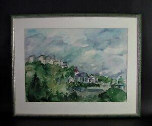 modern-impressionistisches Aquarell SAN BIAGIO - Montepulciano Toscana