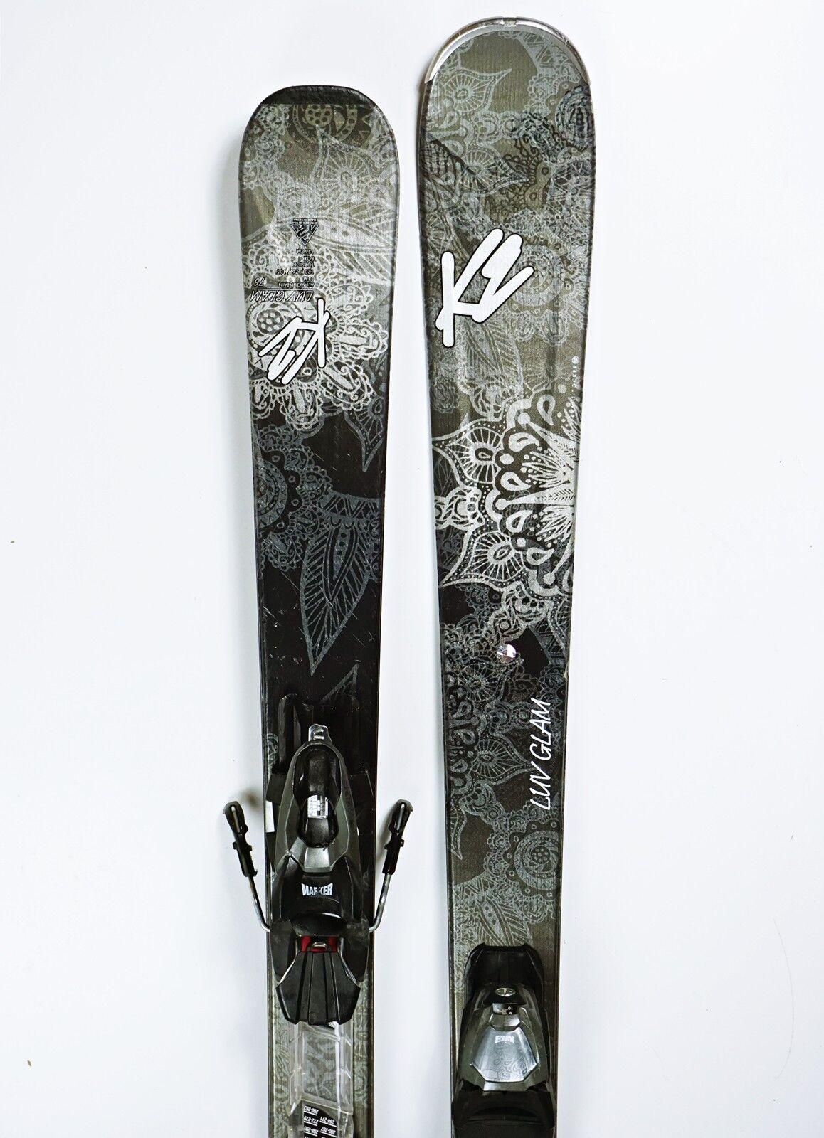 Ski K2 LUV Glam 76 Damen Allmountain Rocker 156cm + Marker 10.0  2017 (FH303)