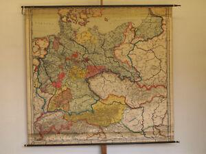 Wandkarte-Deutsches-Reich-220x205cm-1927-vintage-wall-map-german-empire-germany
