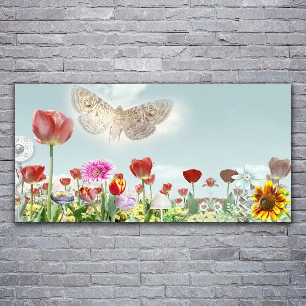 Wandbilder Glasbilder Druck auf Glas 120x60 Blaumen Natur