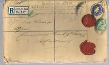 Lettera raccomandata con sigilli di cera DELLA BANCA COMMERCIALE DI SCOZIA c1916