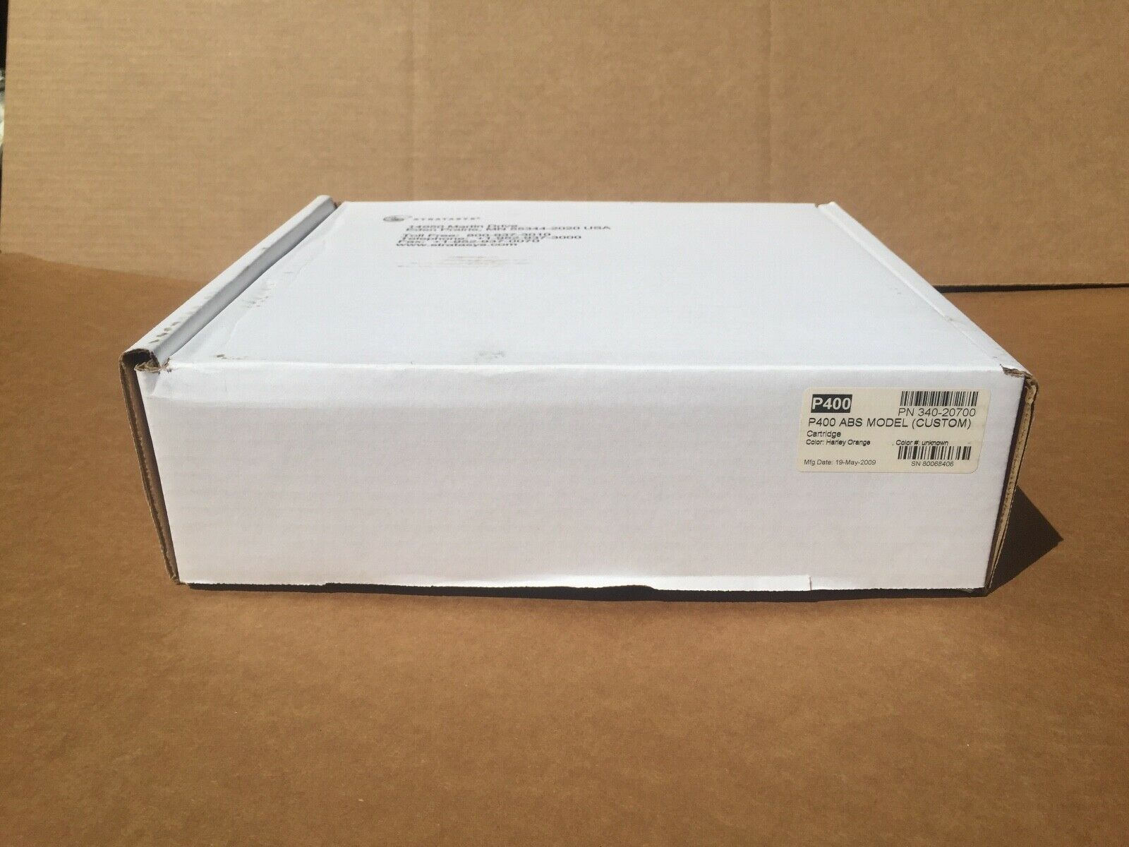 HARLEY DAVIDSON ORANGE 3D PRINTER FILAMENT STRATASYS P400 CARTRIDGE 340-20700