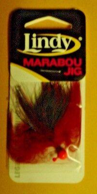6 Lindy 1//16 Oz Marabou Jigs TJ127 ORG FLM