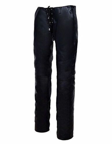 Black Fit Hipster Waist Very Low Trouser Sexy Leather Lambskin Slim Ladies Real pLqVjGSzMU