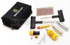 motorcycle atv utv  fill tire repair plug tool kit ebay