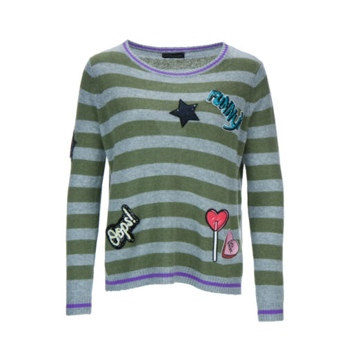 PRINCESS GOES HOLLYWOOD Damen Pullover Patches with Stripes Gr 36-44 Neu