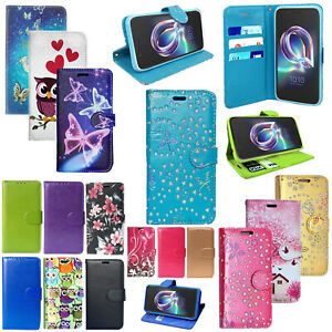 For Alcatel U5 3g 4047x New Genuine Luxury Pu Leather Wallet Phone Cover Case Ebay