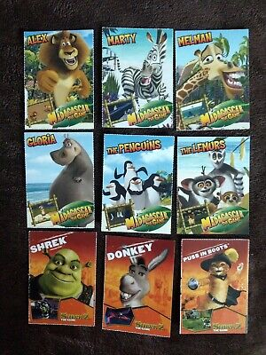 Madagascar The Game And Shrek 2 The Game Collectible Cards Rare Promo Ebay