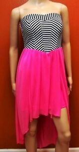 Speechless-Womens-XS-Dress-Striped-Pink-Blue-White-NWT