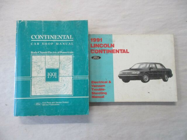 1991 Ford Lincoln Continental Service Shop Repair Manual  U0026 Electrical Wiring Set