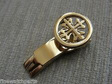 20mm HQ S/Steel Yellow Gold Plated Deployment Buckle fit PP Watches Straps