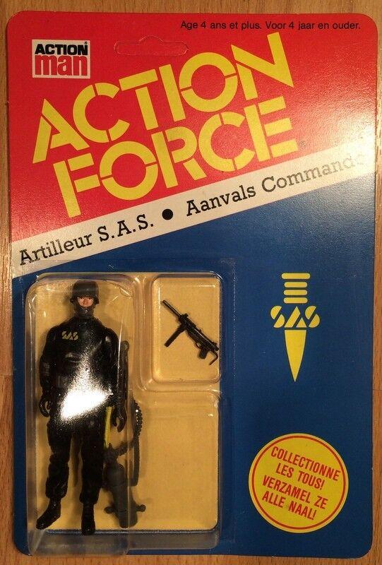 Action Force G I JOE Palitoy Artilleur S.A.S Aanvals Commando Vintage MOC