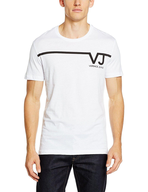 Versace Jeans herren front print t-shirt Größe XL