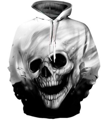 New Fashion Women//Men Melted Skull 3D Print Hoodie Jacket Sweatshirt 831