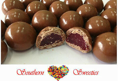 1KG MILK CHOCOLATE COATED RED RASPBERRIES LOLLIES CANDY BUFFET CHOCOLATES CHOC