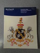 BONHAMS AUCTIONEERS - PRINTED BOOKS, MAPS, MANUSCRIPTS AND PHOTOGRAPHS JUNE 2002