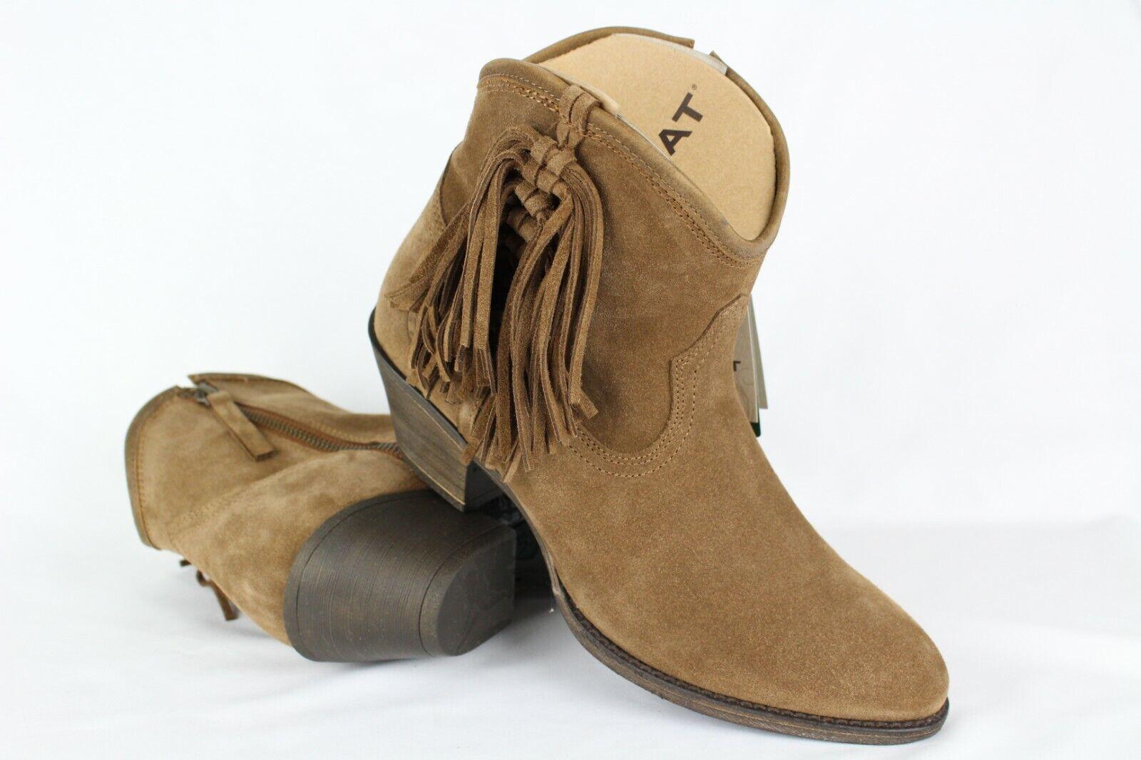 New Ariat Women's Duchess Fringe Ankle Boots Cowboy Boots 8m 10021630