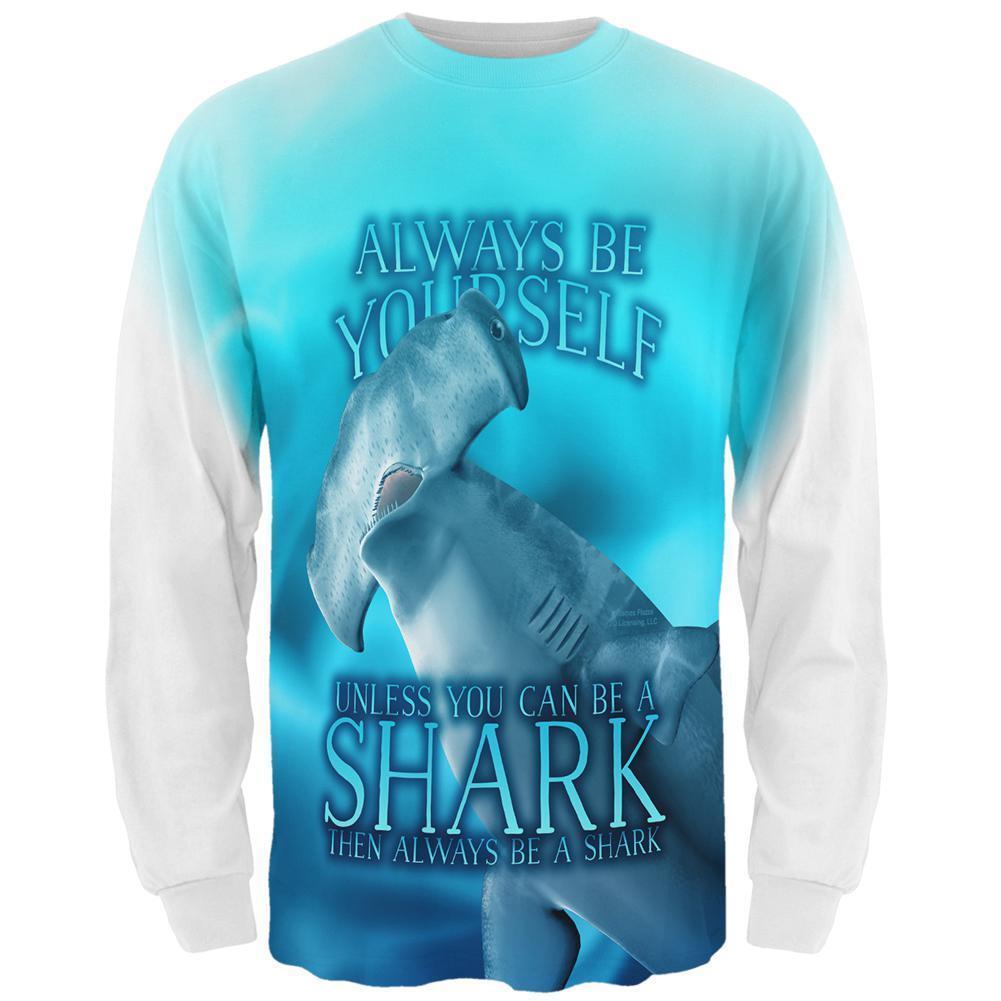 Always Be Yourself Unless Hammerhead Shark All Over Mens Long Sleeve T Shirt