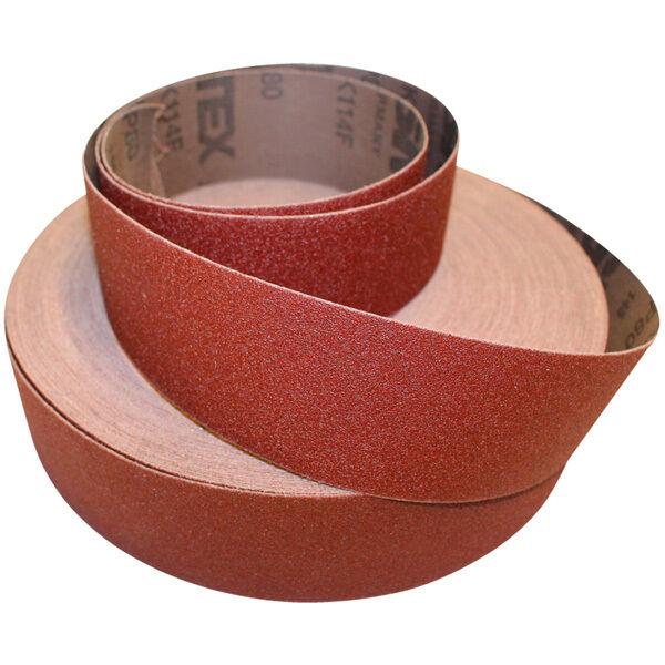 Schleifbänder 10 Bänder ECKRA® 100 x 560mm P40 Gewebebänder Schleifpapier Leinen