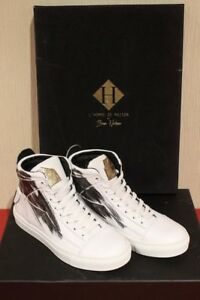 L\'HOMME DE MAISON BY BRIAN NICKSON KAZIM WHITE HIGH TOP SNEAKERS ...