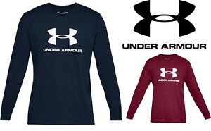 Under-Armour-Sportstyle-Logo-Herren-Graphic-T-shirt-Lange-Armel-UA-1329283