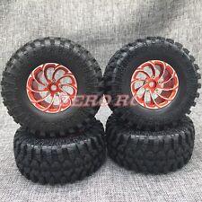 1/10 AXIAL WRAITH Rims Wheel METAL 2.2 ROCK CRAWLER BEADLOCK Wheels + Tires (4)
