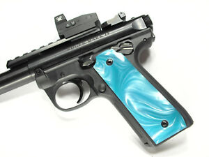 Details about Tiffany Blue Pearl Ruger Mark IV 22/45 Grips MK 4