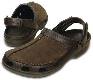 Crocs-Yukon-Mesa-Braun-Clogs-Schuhe-Schlappe-Latschen-YM2-NEU