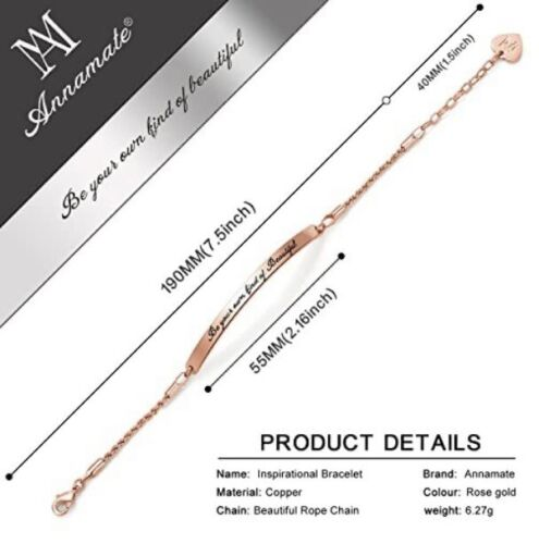 ANNAMATE Rose Gold Bracelet Be Your Own Kind Of Beautiful Inspirational Blogger