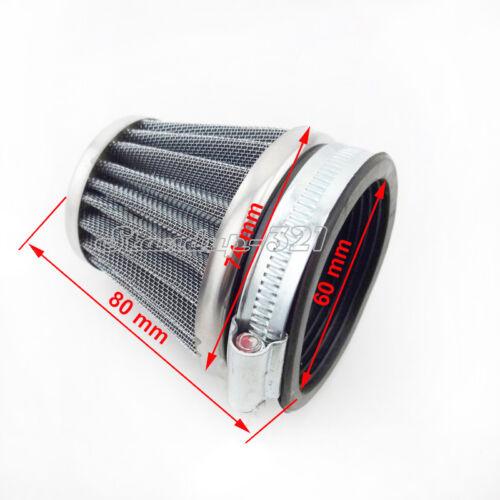 60 mm Cone Air Filter For Honda Kawasaki Suzuki Yamaha ATV Quad