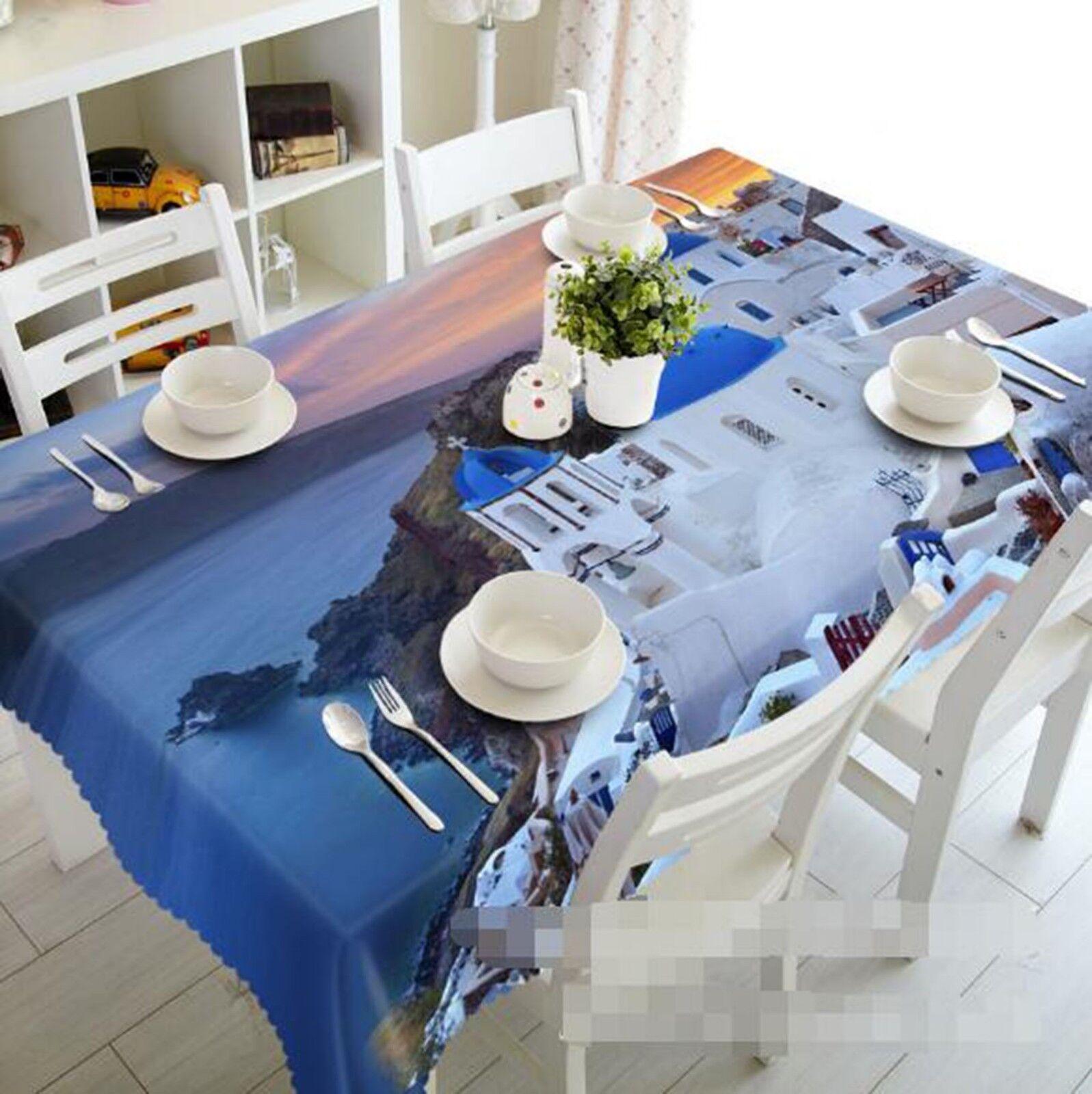 3D blanc House 041 Tablecloth Table Cover Cloth Birthday Party Event AJ Lemon