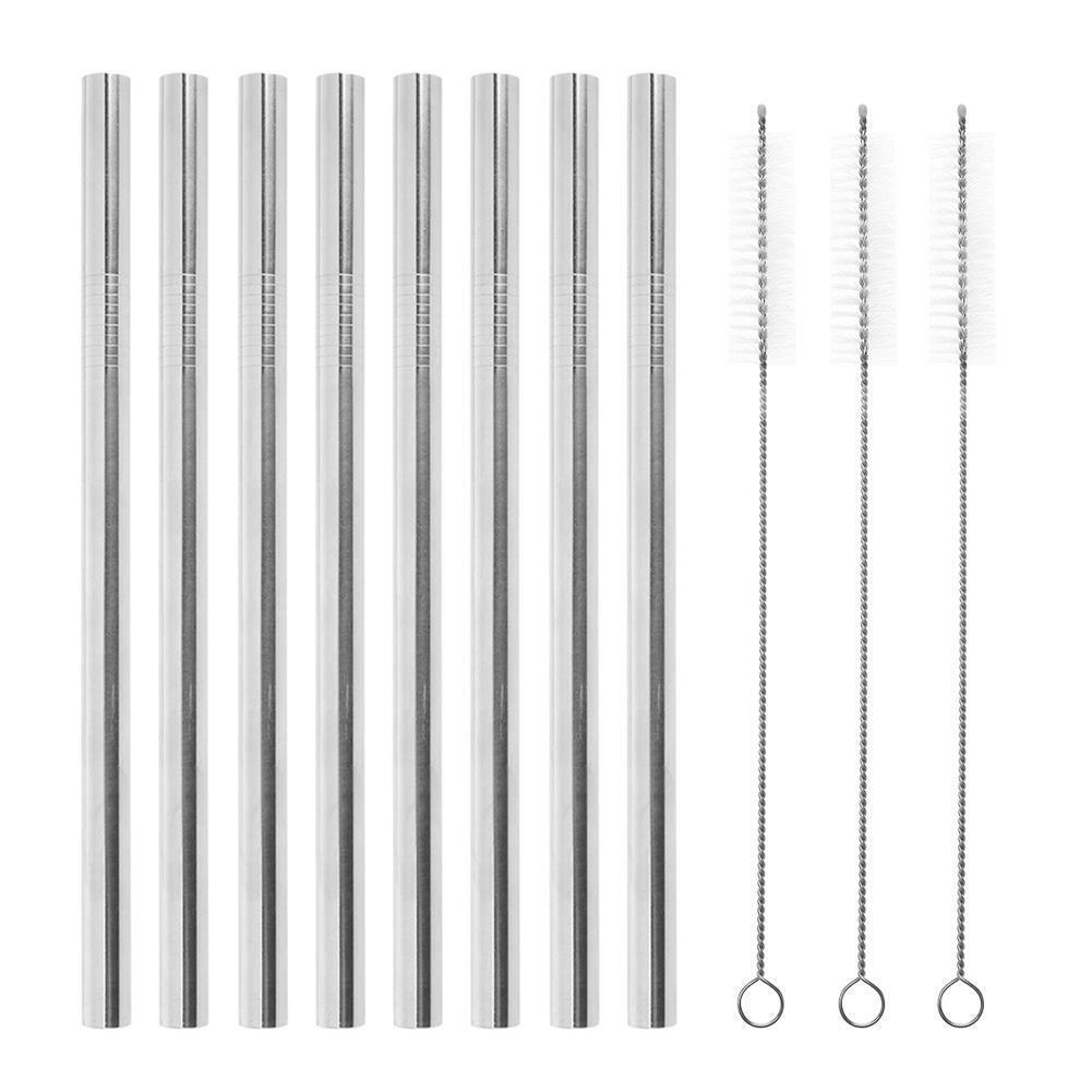 8pcs Straws 3pcs Brush 18*12mm