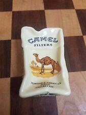 VINTAGE Camel Filters Crushed Cigarette Pack Porcelain Ashtray, New-RARE
