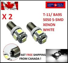 2PC White Light Super Bright 12V T11 BA9S 5050 SMD 5-LED Car Bulb Lamp Xenon HID