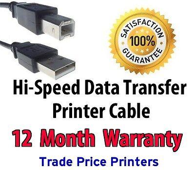 USB Printer Cable Lead Epson Expression XP-245 XP-247 XP-342 XP-345 XP-442 XP-55
