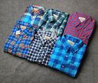 New Hollister by Abercrombie Men Flannel Plaid Shirts Muscle Fit Size