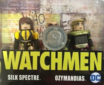 DC Minimates Watchmen TRU Toys R Us Wave 1 Silk Spectre /& Ozymandias