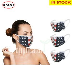Washable Reusable Face Mask In Stock Double Layer 3 Pack Ships From Usa Ebay