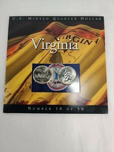 2000 Virginia State Quarters Coins of America U.S. Minted Quarter Dollar