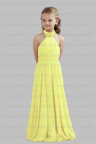 Cute Halter Floor Length Bridesmaid dress Junior Flower Girl Dresses 2-14 years