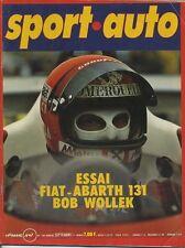 SPORT AUTO n°188 SEPTEMBRE 1977 avec encart et poster GP AUTRICHE FIAT 131ABARTH