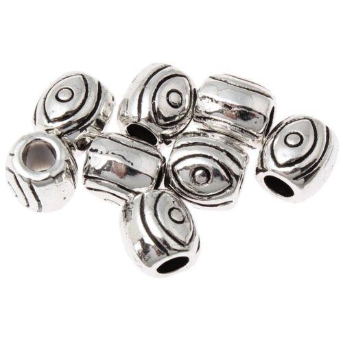 Decorada metal perlas oval spacer 6mm 15stk plateado m537