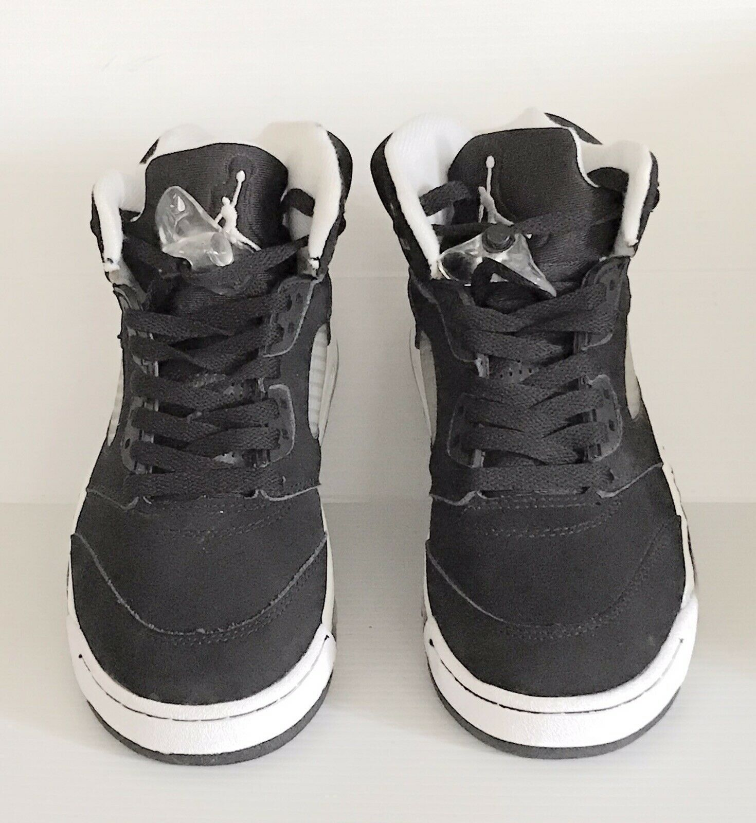 NIKE AIR JORDAN V 5 RETRO OREO BLACK - USED - GOOD CONDITION - 136027-035 Sz 7