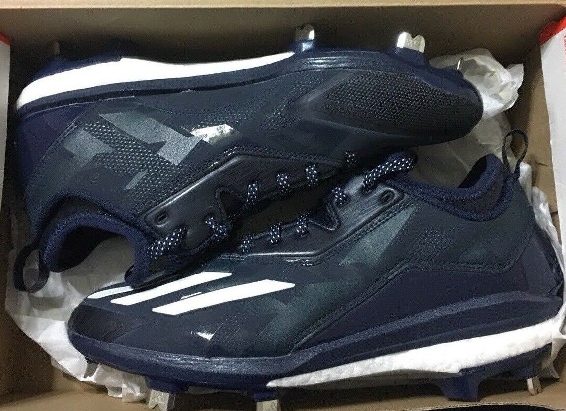 Mens Adidas Energy Boost Icon 2 Metal Baseball Cleats 8 Navy bluee B72824