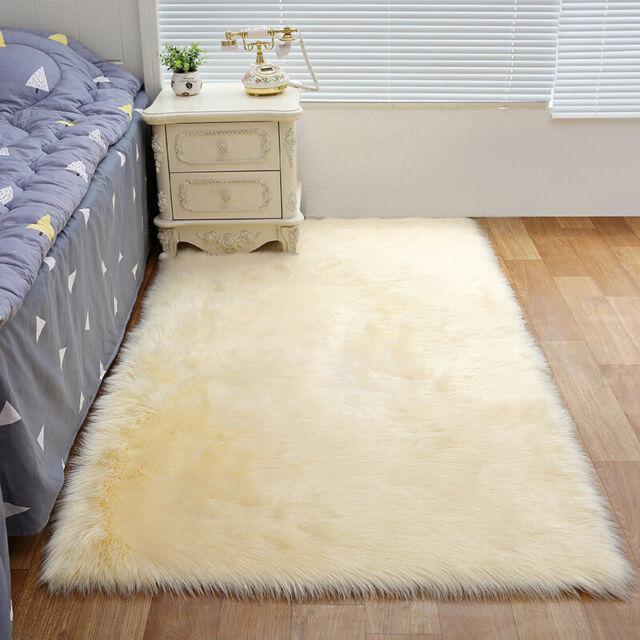 Fluffy Rugs Bedroom Furry Carpet