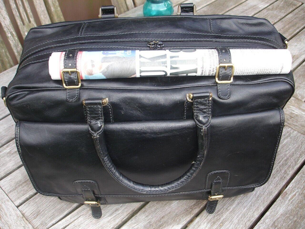 Il PONTE Leather Co Borsone Gree NeroPilot CASEDOCTOR 'S borsaBorsa da lavoro.
