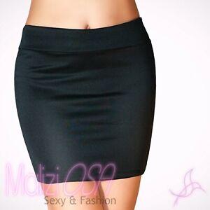 NUOVA linea donna elasticizzata materiale elasticizzato aderente matita Bottone su mini gonna donna